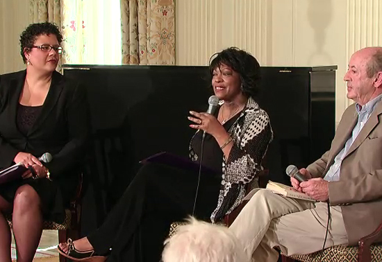 Rita Dove and Billy Collins at the White House Poetry Workshop