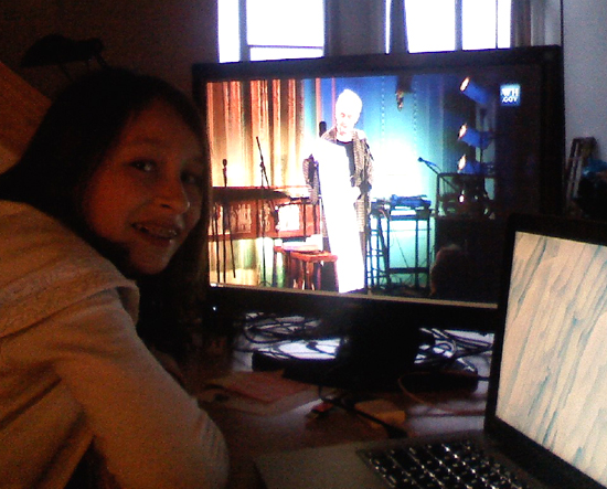 Alison Knowles streaming live from the White House Evening Of Poetry
