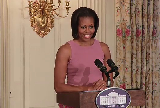 First Lady Michelle Obama speaks about the importance of poetry and self-expression  as she hosts a White House Poetry Workshop.