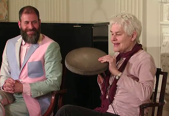 Kenneth Goldsmith & Alison Knowles at the White House Poetry Workshop